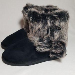 Ugg like Fur Top Boots - JustFab